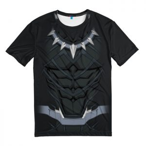 Collectibles T-Shirt Black Panther Costume Print