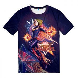 Merchandise T-Shirt Purple Carol Danvers Captain Marvel