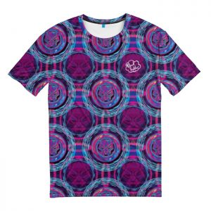 Collectibles T-Shirt Black Panther Purple Pattern T'Challa