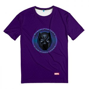 Collectibles T-Shirt Head Black Panther Badge Crest