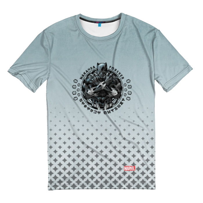 Merch T-Shirt Logo Black Panther Wakanda
