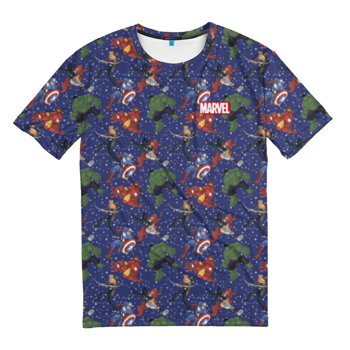 Collectibles T-Shirt Avengers Pattern Superheroes