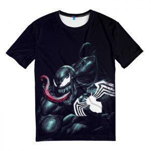Collectibles T-Shirt Venom Symbiote Black W/ Spider Logo