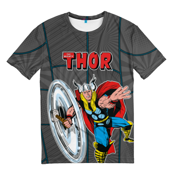 Merchandise T-Shirt The Mighty Thor Gray Apparel Vintage