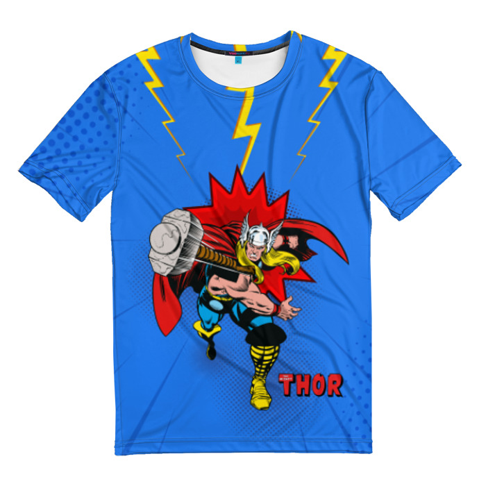 Merchandise T-Shirt Thor Attacks In Action Vintage Comics