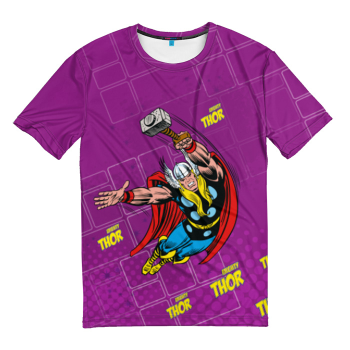 Collectibles T-Shirt Mighty Thor Purple Vintage Print