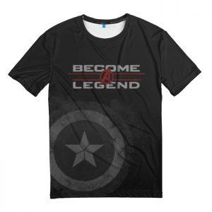 Merchandise T-Shirt Captain America Become A Legend Avengers