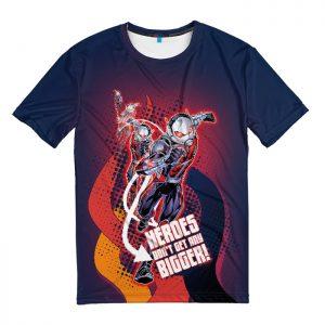 Merch T-Shirt Heroes Don'T Get Any Bigger Ant Man Wasp