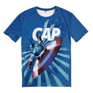 Merchandise T-Shirt Cap! Captain America Blue
