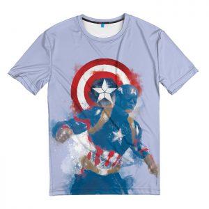 Merchandise T-Shirt Captain America Minimalist Fan Art