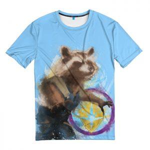 Merchandise T-Shirt Rocket Raccoon Guardians Of The Galaxy