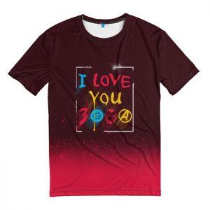 Collectibles T-Shirt I Love You 3000 Tony Stark Avengers
