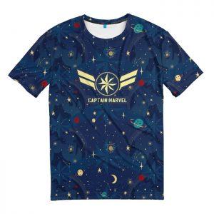 Merchandise T-Shirt Star Force Logo Blue Captain Marvel
