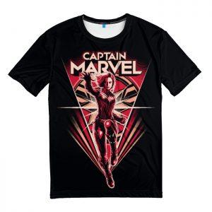 Merchandise T-Shirt Red Black Captain Marvel