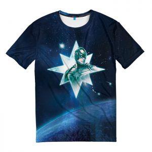 Merchandise T-Shirt Helmet Captain Marvel Blue