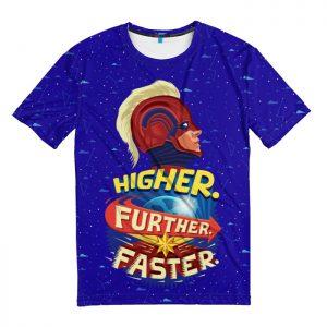 Merchandise T-Shirt Higher Further Faster Captain Marvel