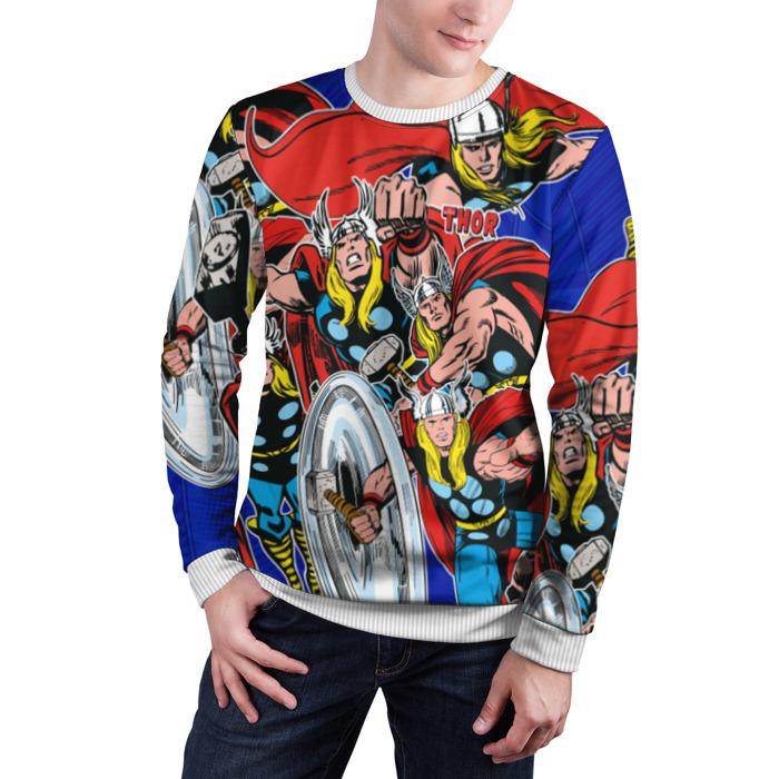 Merch Sweatshirt Thor Vintage Pattern