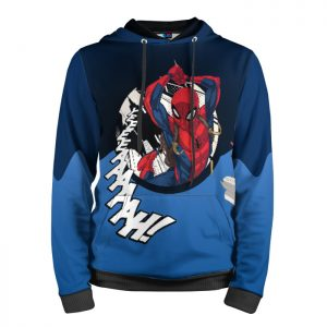 Merch Hoodie Spider-Man Flying Across The City