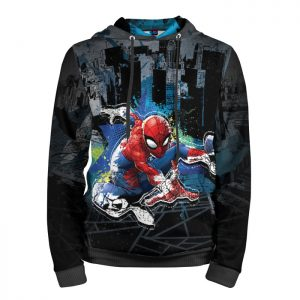 Merch Hoodie Spider-Man Over The City