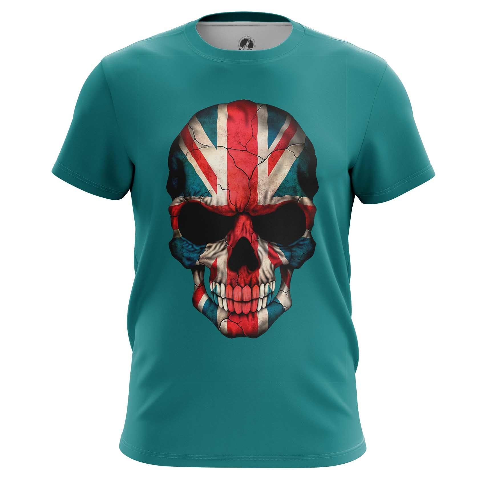 Merch Raglan British Skull Skeleton