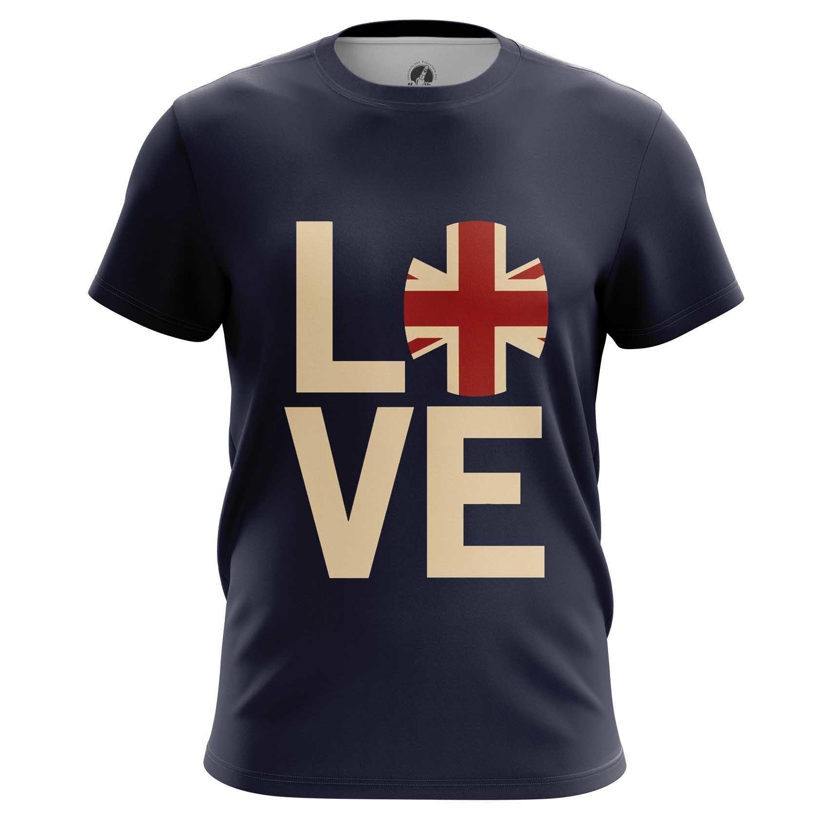 Merch Raglan I Love Britain National Flag