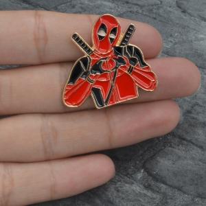 Merch Pin Deadpool Heart Hands Enamel Brooch