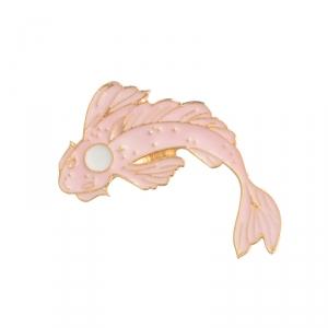 Merch Pin Dream Fish Pink Enamel Brooch