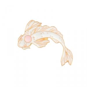Merch Pin Dream Fish White Enamel Brooch