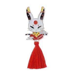 Merchandise Pin Japanese Traditional Rabbit Enamel Brooch