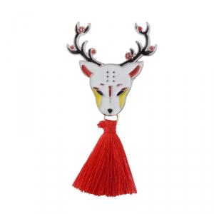 Merchandise Pin Japanese Traditional Deer Enamel Brooch