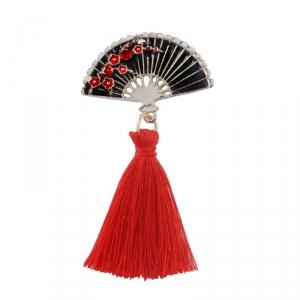 Merchandise Pin Japanese Traditional Fan Enamel Brooch