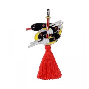 Merchandise Pin Japanese Traditional Snake Enamel Brooch