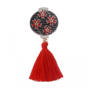 Merchandise Pin Japanese Traditional Lantern Enamel Brooch