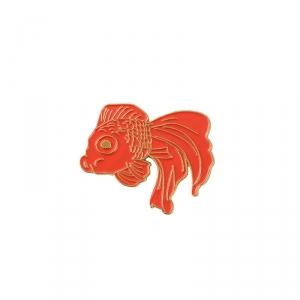 Merchandise Pin Japanese Fish Red Enamel Brooch