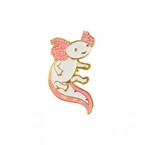 Merchandise Pin Salamander Fish White Enamel Brooch