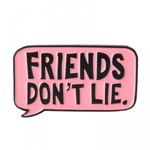 Collectibles Pin Friends Don'T Lie Pink Enamel Brooch