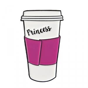 Collectibles Pin Princess Pink White Enamel Brooch