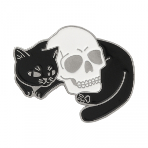 Collectibles Pin Keeper Of Death Cat Enamel Brooch