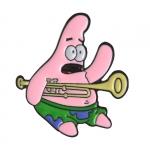 Merchandise Pin Trumpet Patrick Spongebob Enamel Brooch