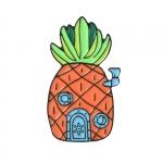 Merchandise Pin Spongebob House Enamel Brooch