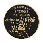 Merch Pin Sparks Of Fire Enamel Brooch
