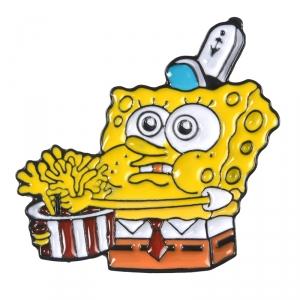 Merchandise Pin Fastfood Spongebob Enamel Brooch