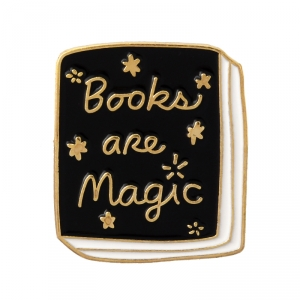 Collectibles Pin Books Are Magic Enamel Brooch