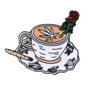 Collectibles Pin Mj Tea Party Enamel Brooch