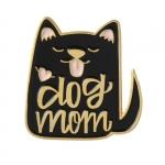 Merchandise Pin Dog Mom Black Enamel Brooch