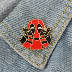 Merch Pin Deadpool Shocked Face Enamel Brooch