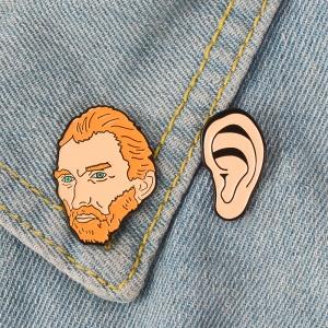 Collectibles - Pin Set Vincent Van Gogh'S Ear Enamel Brooch