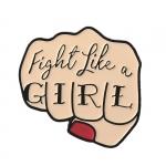 Merchandise Pin Fight Like A Girl Fist Tattoo Enamel Brooch