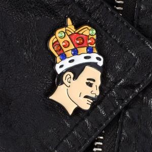 Merchandise Pin Freddie Mercury Queen Enamel Brooch