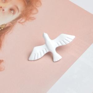 Merchandise Pin White Pigeon Dove Enamel Brooch